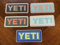 New Authentic Yeti Vinyl Decal, Yeti Stickers, LOT (5) Different Colors/Versions