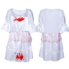 Womens Halloween Bloody Dress Costume Size 8 Splatter Adult Fancy Dress
