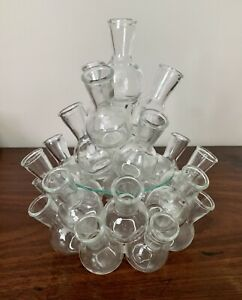 vintage glass bud vase