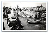 Postcard Fisherman's Wharf, San Francisco, CA 1930-1950 RPPC I20