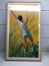 "Leroy Neiman ""The Big Serve"" Signed Collectors Print Framed"