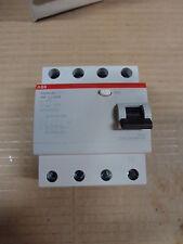 ABB 4 Pole  AC Residual Current Circuit Breaker, 40A, 30mA, 2CSF204006R1400 RCCB