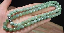 1 Pcs Green Yellow 100% A JADE JADEITE Bead Beads Necklace 20 inches 8mm 292724