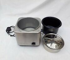 Cuisinart CRC-800 8-Cup Rice Cooker Stainless Steel Glass Lid Missing