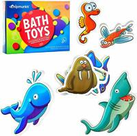 Solid Foam Rubber Bath Toys with Colorful Sea Animal Theme Nemo, Octopus & More