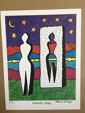 EDWINA SANDYS - 1989 - UNITED NATIONS WFUNA ART GRAPHIC - VIENNA OFFICE 10th ANN