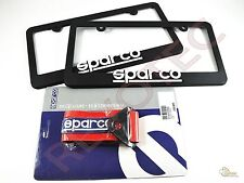 Sparco Racing Universal Tow Strap / Tow Hook Ribbon & License Plate Frame (2)
