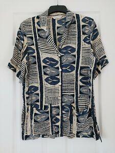 Ladies Vintage Blouse Size 16 St Michael Marks and Spencer Shoulder Pads