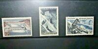 FRANCOBOLLI FRANCIA 1956 ARCHITETTURA INDUSTRIA SERIE NUOVI MH* SET (CAT.B)