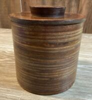 Vintage Pipe Tobacco Humidor Wood with Cork Lining