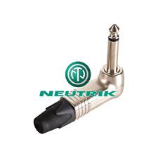 Fiche Jack 6.35 Mâle MONO Coudé 90° Corps Nickelé Neutrik NP2RX