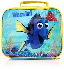 DISNEY FINDING DORY INSULATED THERMAL LUNCH BAG HANDLE BOX SCHOOL FISH NEMO BLUE