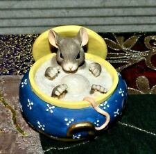 """Charming Tails Figurine Mouse In Sugar Bowl 89/625 You Couldn't Be Sweeter 4"""""""