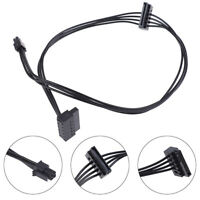 1Pc 4 Pin To 2 SATA Power Supply Cable For Main Board Interface SSD Power Ca JR