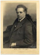 Pietro Mascagni Italian opera composer Original gelatin silver photo 1929c L557