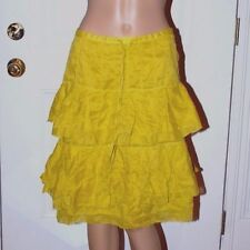 New $180 ONE STEP tiered skirt mustard yellow Jupe A Volants Claudel 1 40