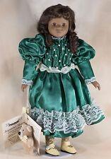 "Kimberly Seymour Mann Connoisseur 15.5"" Porcelain Doll Black African American"