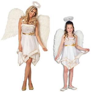 Engel Engelchen Elfe Fee Kostüm Damen Kinder Engelskostüm Engelskleid Sexy Kleid