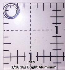 BLACK Anodized Aluminum JUMP RINGS 500 3/16 18g SAW CUT Chainmail chain mail