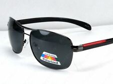 641e6989e6 New Mens Pilot Polarized Lens Sunglasses Shades Round Sports Black Fishing  Golf
