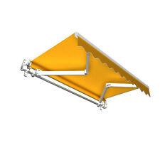 Markise Sonnenschutz Gelenkarmmarkise Handkurbel 400x300cm Gelb Kurbel B-Ware