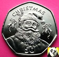 🎅 2017 GIBRALTAR 50p Fifty Pence Father Santa Claus CHRISTMAS XMAS Unc Coin 🎅