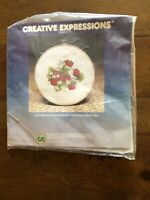 New creative expressions kit  Strawberry Patch Crewel Kit With Hoop