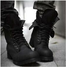 HOT Combat boots Winter England-style fashionable Men's short Black shoes EUR42