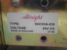 SW200A-630A CURTIS/ALBRIGHT NEW/UNUSED/MFG PACKAGING Heavy duty D.C. Contactors