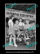 OLD POSTCARD SIZE PHOTO OF HONDA MINIBIKE MOTORCYCLES ADVERTISMENT c1975 2
