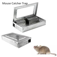 Live Mouse Rat Trap Catcher Metal Reuseable Humane Safe Mice Catching Tool Snare