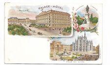 MILAN ITALY  multi view colour postcard
