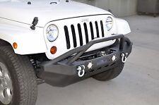 07-16 Jeep Wrangler Mid Length ALUMINUM Front Bumper + Led Lights