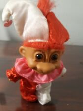 """Russ Troll Doll 5"""" Large Birthday Party Clown Red Hair Toy With Hat"""