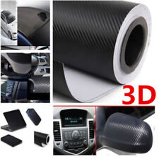 3D Carbon Fiber Car Wrap Sheet Roll Film Sticker Decal Paper Waterproof  20X50in