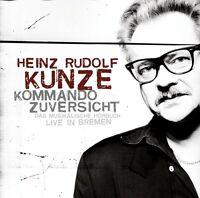 HEINZ RUDOLF KUNZE - KOMMANDO ZUVERSICHT (JEWEL CASE) 2 CD NEU