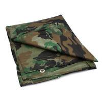 Camo Camouflage Army Tarpaulin Ground Sheet Cover Camping Basha Tarp Many Sizes