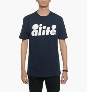 Alife - Core Logo Tee T-Shirt - Various Sizes - New with Tags - Eclipse Blue