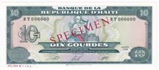 Haiti 10 Gourdes 1998 SPECIMEN P# 256s UNC (29772)