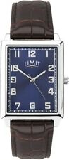 Limit Gents Watch with Blue Dial and Brown Strap 5977