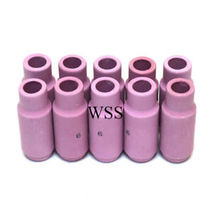 Tig Welding WP17 WP18 WP26 Torch Collet Body Ceramic Cup - Pack of 10