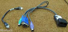 Ibm Kvm Vga/ps2 250 Mm Cable de conversión con 6' Cat5 Ethernet Patch Cable,26 k4178