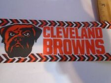 YARD OF 2 INCH WIDE CLEVELAND BROWNS  GROSGRAIN  RIBBON SOLD BY THE YARD