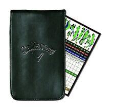 Callaway Golf Scorecard Holder Leather Yardage Book- Black