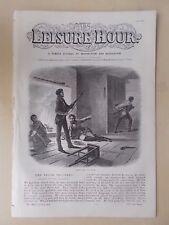 ANTIQUE VICTORIAN THE LEISURE HOUR MAGAZINE PAPER No 965 JUNE 25th 1870