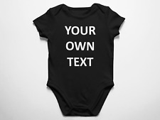 Custom Baby Bodysuit One-Piece Infant Jump Suit Your Own Text Name Personalized