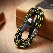 1M 3ft Braided Fabric Micro USB Data&Sync Charger Cable Cord For Samsung gbm21