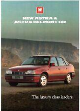 Vauxhall Astra & Astra Belmont CD 1989 UK Market Foldout Sales Brochure