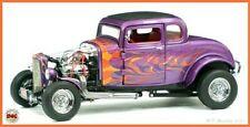 """New ListingFranklin Mint 1932 Ford Hot Rod Coupe """"Purple w/ Flames Nbr Ltd Ed Anib 1:24"""