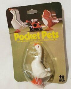 NEW Vintage 1977 Wind-Up White Goose POCKET PETS Tomy 1970s Toy
